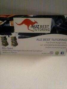 AUZ BEST TUTORING & Assignment Assistance: Management & Diploma Oakleigh South Monash Area Preview