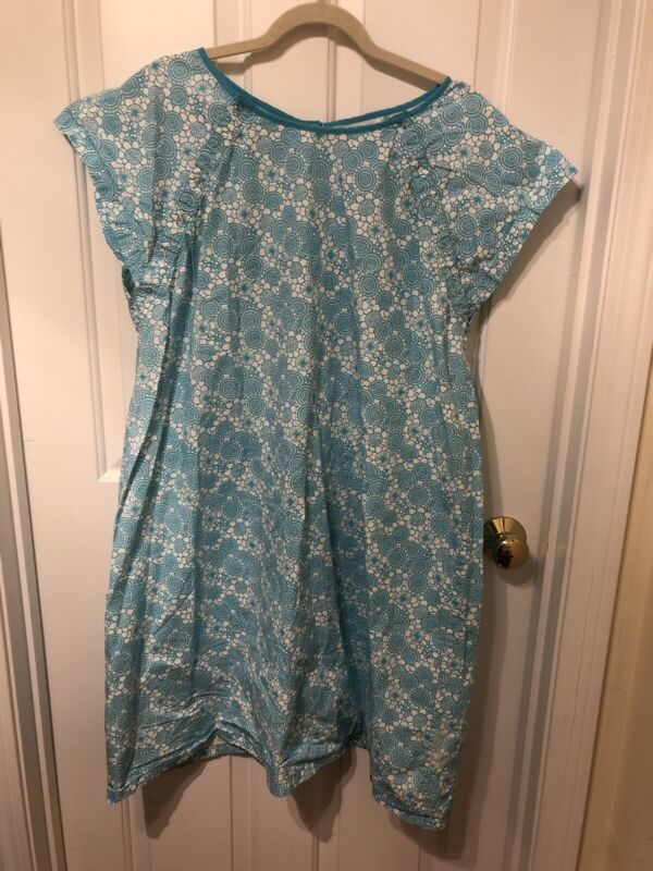 Baby Be Mine Gownies Blue Labor & Delivery Nursing Hospital Gown Maternity L/XL