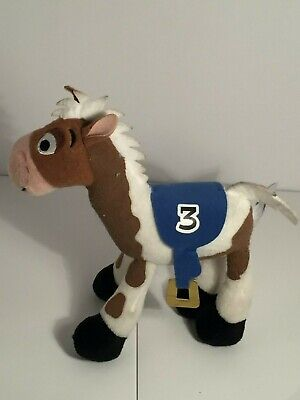 White Plush Horse (💚 Disney Parks Toy Store Plush Andy's Horse #3 Brown White Race Horse)