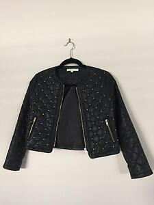 Witchery Faux Leather Girls Jacket - Size 12 Greenway Tuggeranong Preview
