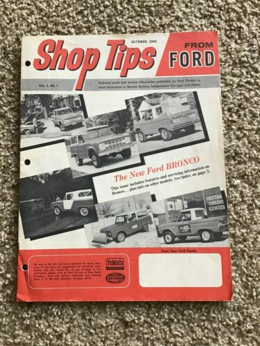 1966 Ford  Oct. Ship tips Bronce Issue.