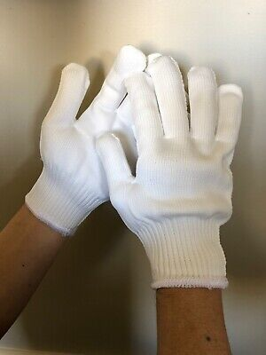 Standard White Polyestercotton Work Gloves Large 6pack