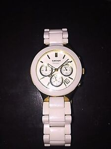 DKNY Ceramic White Watch