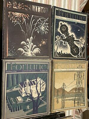 Fortune Magazine 12 Issues from 1936, 1938, & 1939 Vintage Advertising Art