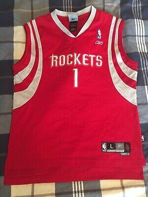 Houston Rockets Tracy McGrady Sewn Jersey # 1 Reebok NBA Youth L (14-16) +2