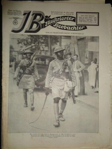 German MAGAZINE Illustrierter Beobachter vom Donnerstag 18 juli 1940 / Folge 29