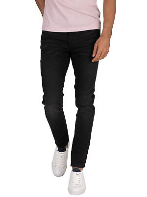 Superdry Men's Skinny Travis Jeans, Black