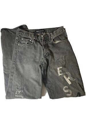 Mens Vintage Versace Couture Gray Jeans W28