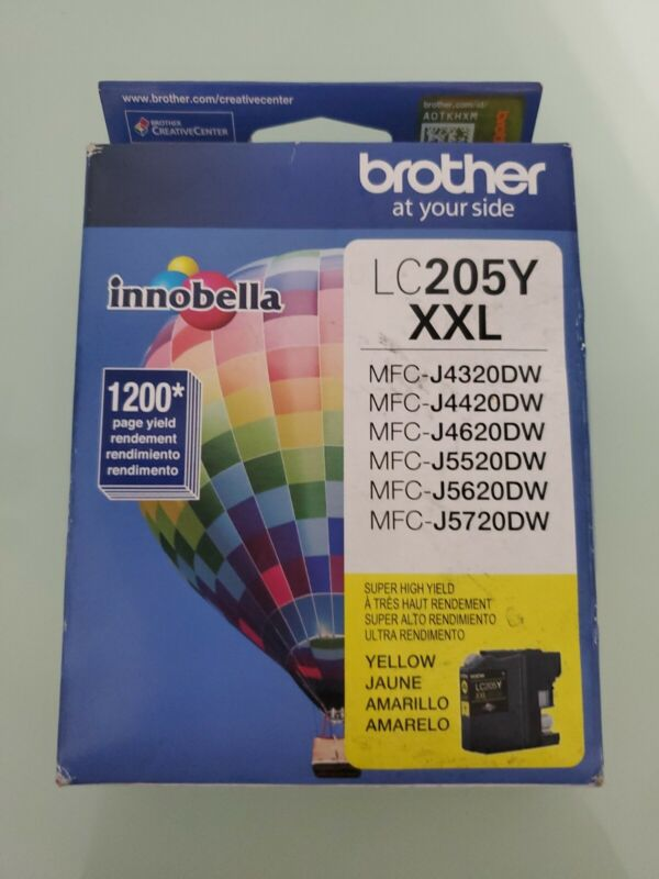 BROTHER LC205Y Ink Cartridge,1200 Page-Yield,Yellow