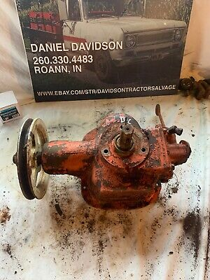 Allis Chalmers C-b Belt Pulley Pto Assembly With Hydraulic Pump