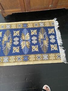 Hall runner wool reversible pattern