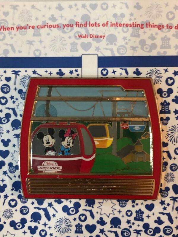 Disney Skyliner Pin Walt Disney World Mickey Minnie Mouse Gondola