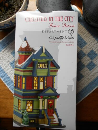 DEPT 56 Christmas In The City 755 PACIFIC HEIGHTS NIB