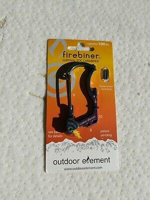 Firebiner Silverthorne Firestarter Carabiner Strap Cutter Survival Multitool