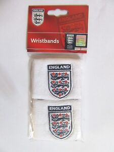 Pair Of England Sweatbands Wristbands Football Rugby Cricket World Cup