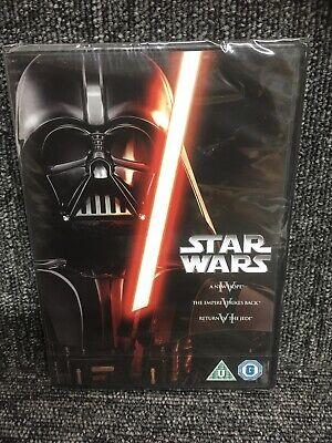 STAR WARS: The Original Trilogy 4,5,6 (Episodes IV, V & VI) (DVD) NEW & SEALED