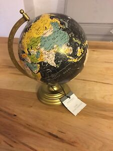 SMALL BLACK THRESHOLD WORLD GLOBE