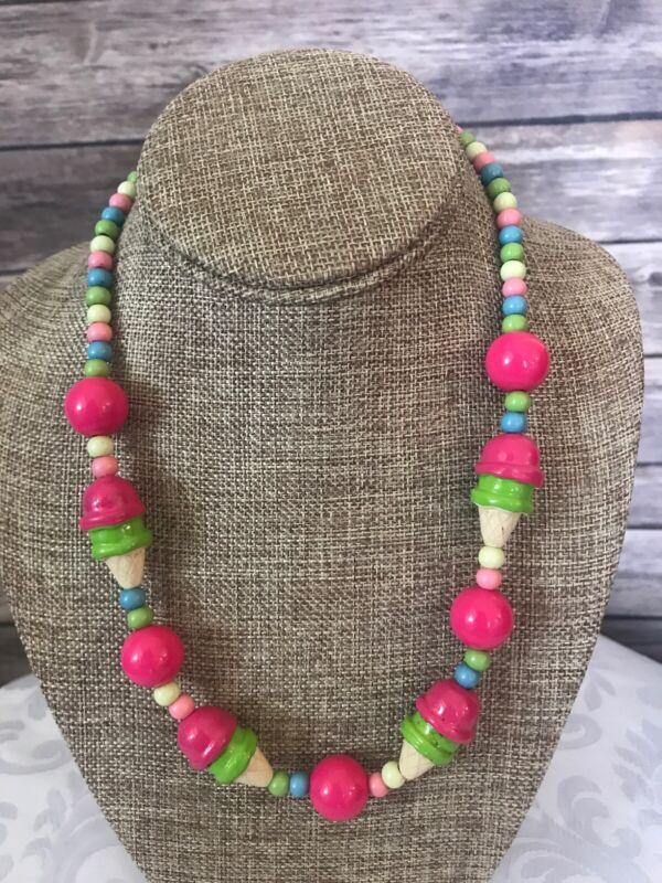 Gymboree Ice Cream Necklace Girls Fashion Jewelry