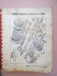 BSA Motorcycle Workshop Manual, very worn.