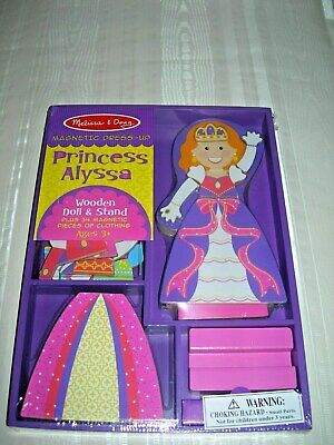 Melissa & Doug Doll Clothing - Melissa & Doug Magnetic Dress-Up Doll Princess Alyssa 34 Magnetic Clothing NIP