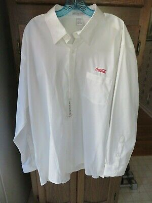 men's size XXL Coca Cola long sleeve shirt by North End  Sport white 100% cotton