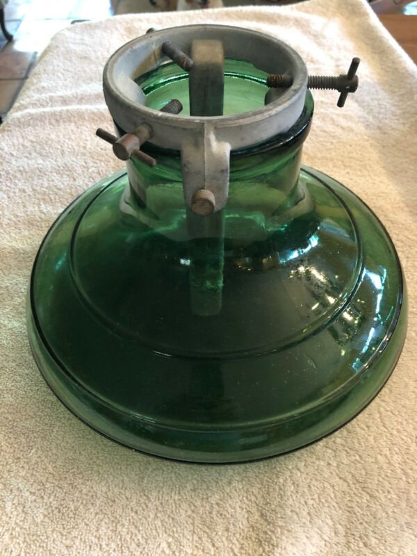 Antique 1930's Green Glass & Aluminum Christmas Tree Stand - Bulach -Switzerland