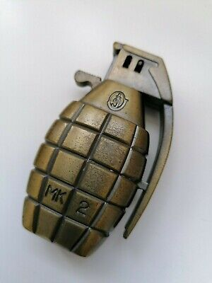 Vintage lighter in hand grenade style