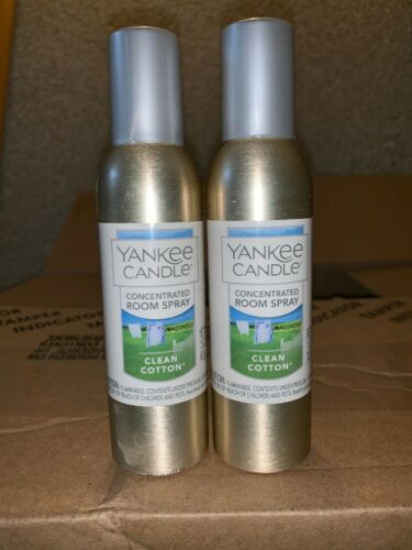 yankee candle concentrated room spray 2 Pack Of Clean Cotton