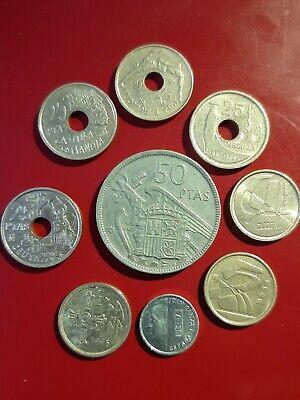 9 Münzen Spanien vor Euro Schnäppchen!!