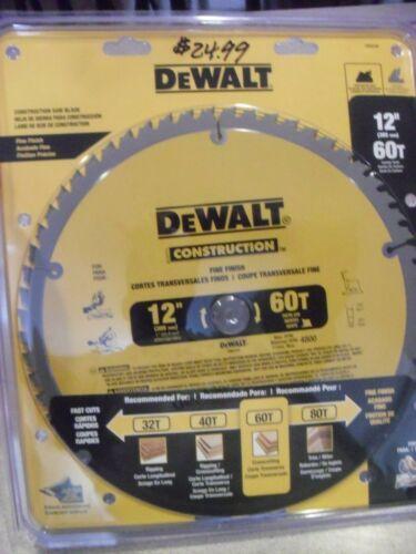 """Dewalt 12"""" x 60 Tooth Saw Blade # DW3126"""