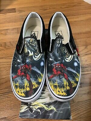 Vans Iron Maiden Slip On Number Of The Beast Sz 8 New 2012