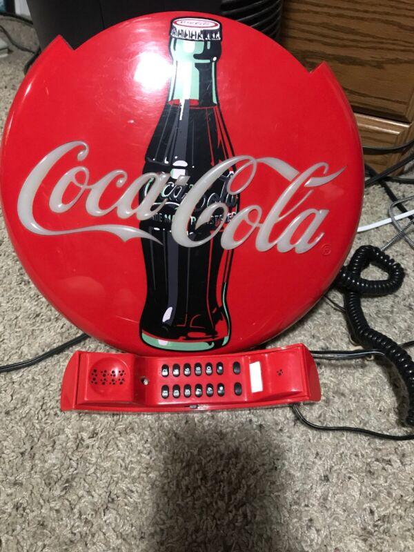 Coca Cola Telephone Collectible Light-up Phone Bottlecap Soda Pop Vintage 1995