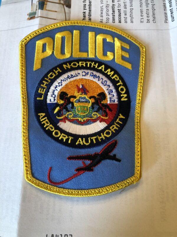 Lehigh North Hampton Pennsylvania Airport Authority Police PATCH MINT
