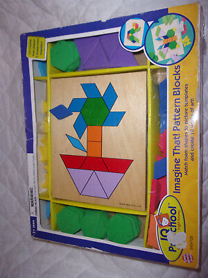 Imagine That! Pattern Blocks Wood Picture Templates Foam Shapes Math Toy
