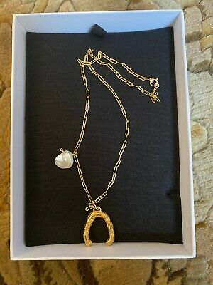 ALIGHIERI 24K Gold Plated Flashback River Pearl Necklace