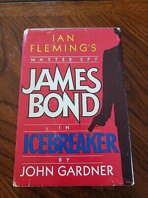 John Gardner Icebreaker James Bond Hardback Book Club Edition 1983 Dust Jacket