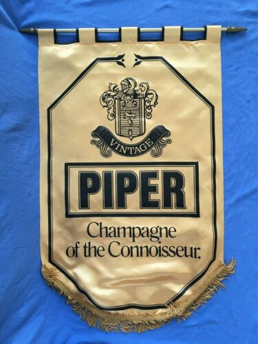 """Vintage PIPER """"CHAMPAGNE of the Connoisseur"""" Banner Sign Advertisement Heidseick"""