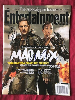 Tom Hardy Charlize Theron Signed Entertainment Weekly Mad Max In Person Autograp