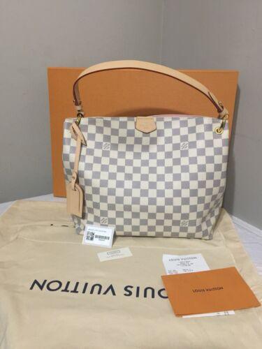 Authentic Louis Vuitton Graceful PM Damier Azur Hobo Tote Bag