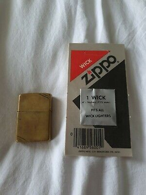 Vintage Brass Zippo Lighter - COMMEMORATIVE
