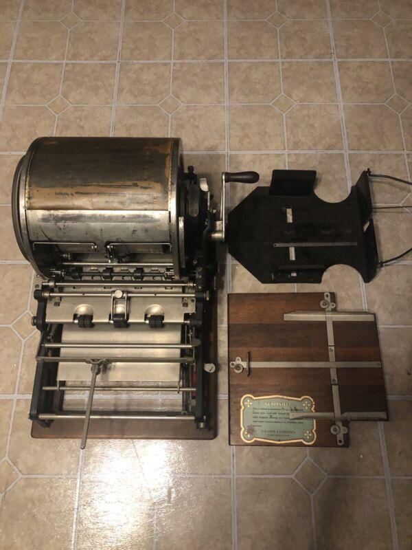 Antique EDISON 1909 AB Dick Mimeograph No 76 w Original Labels