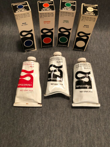 Speedball Block & Woodcut Printing Ink, 6 colors, Water Soluble. Great for kids!
