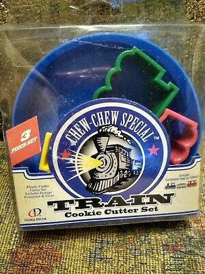 Global Decor Chew Chew Special Train Cookie Cutter 3 Piece Set Christmas