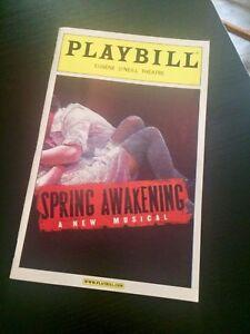 SPRING AWAKENING Playbill Lea Michele Groff Gallagher Jr original cast Broadway