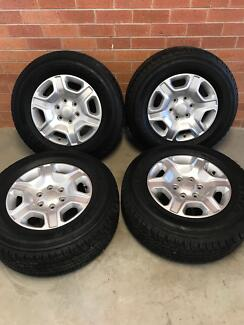 Ford ranger wheels and tyres good as new