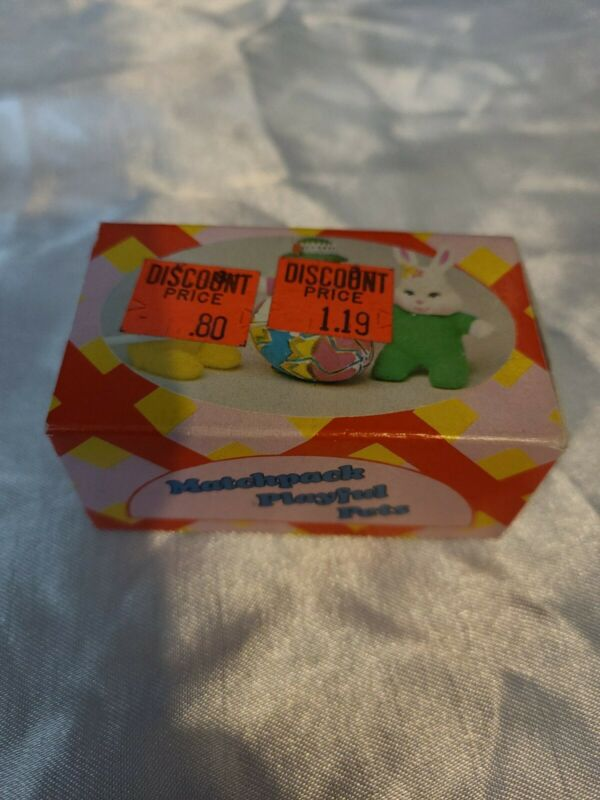 """Vintage Easter Unlimited Matchpack Playful Pets Yellow Duck 2 1/2"""""""