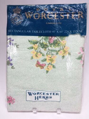 "Royal Worcester Herbs tablecloth 90"" x 60"" cotton"