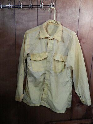 Vintage Yellow Nomex Shirt Wildland Fire Shirt