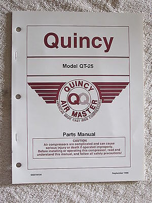 1996 Quincy Air Master Qt-25 Compressor Parts Manual
