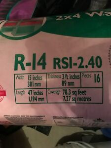 R14 pink insulation for 2x4 walls